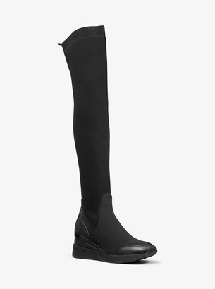 MICHAEL Michael Kors Khloe Stretch Knit and Scuba Over-the-Knee Boot