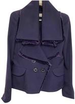 Christian Dior Purple Wool Jacket for Women Vintage