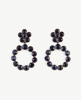 Ann Taylor Round Crystal Circle Drop Earrings