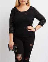 Charlotte Russe Plus Size Floral Lace Top