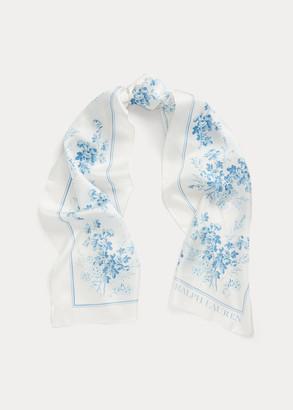 Ralph Lauren Lira Floral Silk Twill Scarf