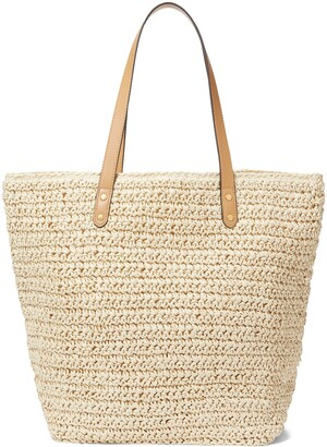 Banana Republic Large Straw Tote Bag