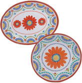 Certified International 2 Piece Vera Cruz Round Platter & Oval Platter