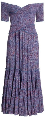 Poupette St Barth Soleded Off-The-Shoulder Midi Dress