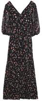 Ganni Floral-print Crepe Midi Dress