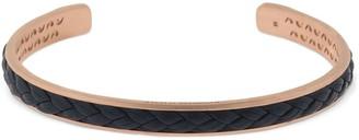 Marco Dal Maso Braided Leather Cuff Bracelet