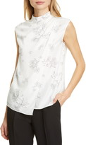 Rebecca Taylor Tailored By Floral Silk Blend Top