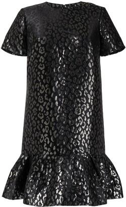 Carolina Herrera Leopard Jacquard-Woven Dress