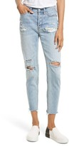 Free People Women's Lacey Stilt Embroidered Crop Jeans
