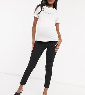 Missguided Maternity over the bump vice skinny jean in black