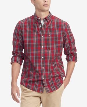 Tommy Hilfiger Men's Dylan Classic-Fit Th Flex Stretch Tartan Shirt