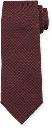 Emporio Armani Men's Houndstooth Plaid Tie