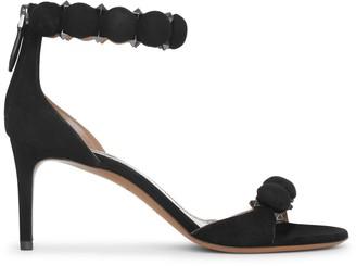 Alaia Bombe 70 black suede sandals