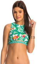 MinkPink Swimwear Panama Palms Crop Bikini Top 8143402