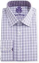 English Laundry Checked Cotton Dress Shirt, Purple