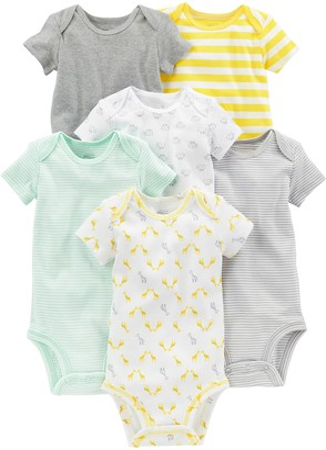 Simple Joys by Carter's Baby 6-Pack Neutral Short-Sleeve Bodysuit