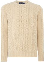 Polo Ralph Lauren Men's Aran knit crew neck jumper