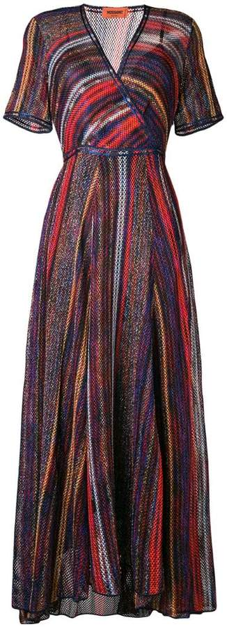 Missoni striped wrap front dress