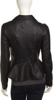 Romeo & Juliet Couture Flared Peplum Jacket, Black