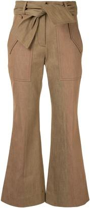 Derek Lam 10 Crosby Kick-Flare Cropped Trousers