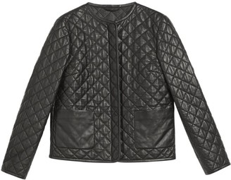 Max Mara Leather Quilted Jacket