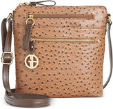 Giani Bernini North South Ostrich Printed Crossbody, Only at Macy's