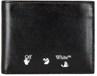 Off-White OW Logo Bifold Wallet in Black & White | FWRD