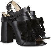 No.21 Black Fringed Pom Pom Althea Mules