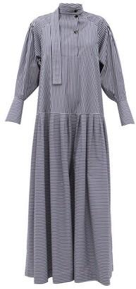 Palmer Harding Palmer//harding - Kapori Striped Cotton Dress - Navy White