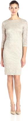 SL Fashions Women's Long Sleeve Lace Sheath Dress