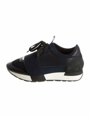 Balenciaga Race Runner Chunky Sneakers Blue
