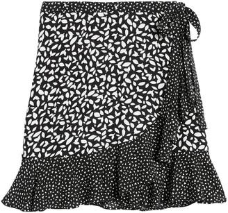 Banana Republic Ruffle Wrap Mini Skirt