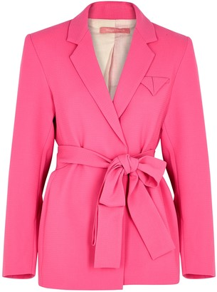 Maggie Marilyn Have The Faith Pink Wool Blazer