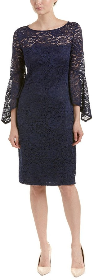 Laundry by Shelli Segal Women's Lace Bell Sleeve Dress
