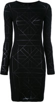 Gareth Pugh geometric pattern fitted dress - women - Nylon/Spandex/Elastane/Viscose - 40