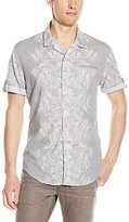 Calvin Klein Jeans Men's Abstract Floral Camp Shirt