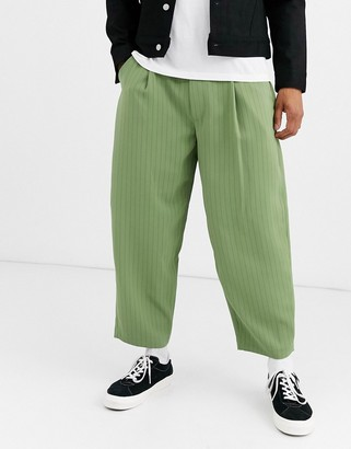Noak wide leg pinstripe pants in mint
