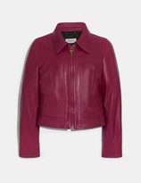 Coach Cropped Leather Blouson