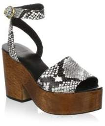 Tory Burch Leather Ankle-Strap Sandals