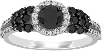 Stella Grace 14k White Gold 1 1/3 Carat T.W. Black & White Diamond Engagement Ring
