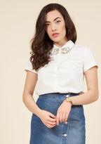 ModCloth Hive Haute Button-Up Top in XXS