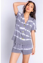 Thumbnail for your product : PJ Salvage Happy Days Tie Dye Pajama Set, Charcoal Medium