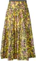 RED Valentino floral-print skirt - women - Silk/Cotton - 40