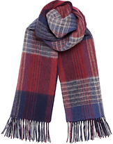 Jigsaw Double Faced Check Scarf, Redwood