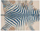 Pottery Barn Printed Zebra Rug - Blue