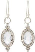 Jude Frances 18K Oval White Topaz & Diamond Dangle & Drop Earrings