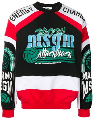 MSGM Attack Block sweatshirt