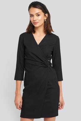 Trendyol Buckle Detailed Mini Dress Black