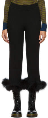 Opening Ceremony Black Ostrich Feather Culottes