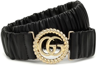 Gucci GG stretch-leather belt